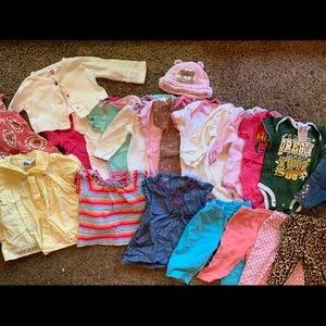 22 pieces of clothing for 3 to 6 months old girl